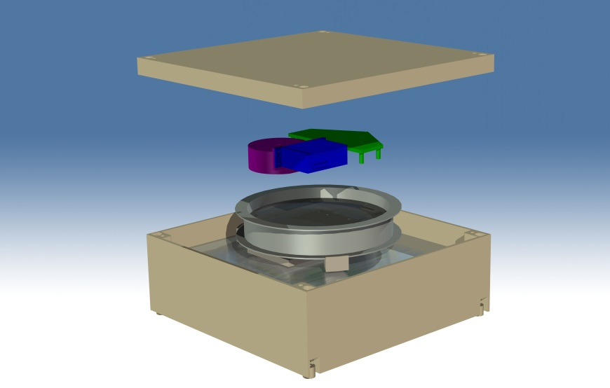 Fig.2. The 3D - visualization of the FOSREM construction.
